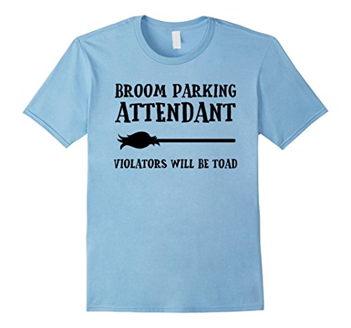 Mens Broom Parking Attendant Funny Halloween Costume T-shirt 2XL Baby (Toad Halloween Costume Baby)
