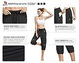 BALEAF Women Lightweight Jogger Capri Pants Running Quick Dry Sun Protection UPF 50+ Zipper Pockets