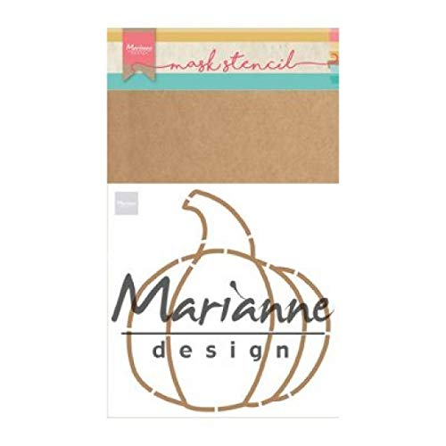 Marianne Design Mask Stencil Pumpkin by Marleen for Scrapbooking, Cardmaking and Other Papercrafts, Light Blue, A5]()