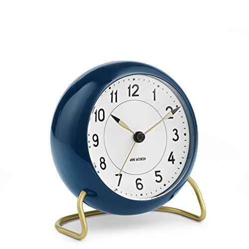 Blue Alarm - Arne Jacobsen Station Alarm Clock - Petrol Blue