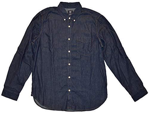 - GAP Mens Dark Blue Denim Pocket Shirt Large