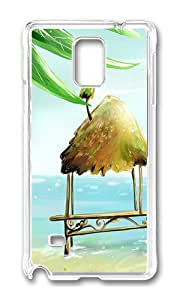 Samsung Note 4 Case,VUTTOO Cover With Photo: Hut And Coconut Tree For Samsung Galaxy Note 4 / N9100 / Note4 - PC Transparent Hard Case