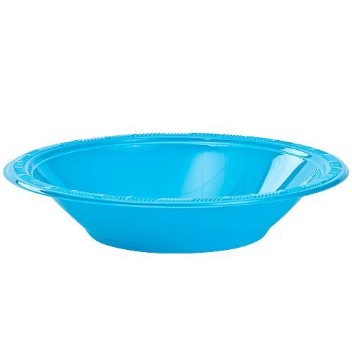 Bowl Island (Party Dimensions 82321 12 Count Plastic Bowl, 12-Ounce, Island Blue)
