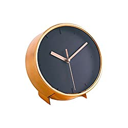 Aria Furniture Modern Chic Bronze Metal Clock Diameter 6.02inch