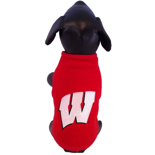 NCAA Wisconsin Badgers Collegiate Polar Fleece Dog Sweatshirt (Small) Collegiate Polar Fleece