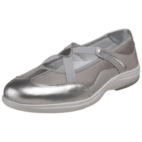Propet Women's Sapphire Sneaker,Silver/Grey,6 W US