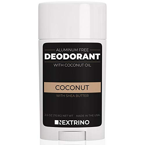 All Natural Aluminum Free Deodorant - Made in the USA with Coconut Oil & Essential Oils for Women and Men - Vegan, Non-GMO & Organic Ingredients (Coconut) (Best Organic Deodorant For Women)