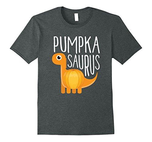 Halloween Costumes Ideas For Two Guys (Mens Pumpkasaurus - Cute Dinosaur Costume - Halloween Shirt XL Dark Heather)
