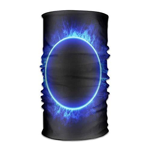 EJjheadband Headband Bandanas Circle Fire Blue Flame Versatile Casual...