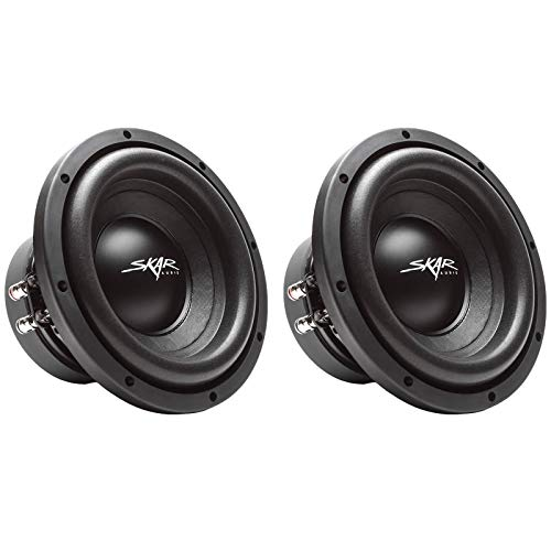 (2) Skar Audio Sdr-8 D4 8″ 700W Max Power Dual 4 Ohm Car Subwoofers, Pair of 2
