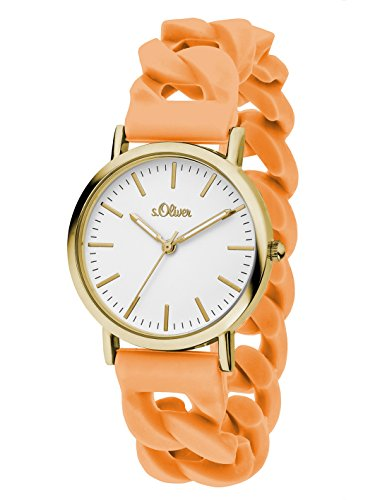 S.Oliver Women's Analogue Quartz Watch with Silicone Strap – SO-3254-PQ