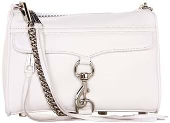 Rebecca Minkoff Mini MAC Convertible Cross-Body Handbag,White,One Size