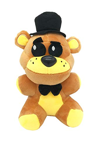 "FNAF Plushies - Full Characters - (Golden Freddy)- (8"") - in Stock US- Five Nights Freddy's Plush: Chica, Springtrap, Bonnie, Marionette, Foxy Plush - Freddy Plush-FNAF Plush-Kid's Toy-Stuffed Animal"