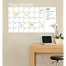 2016 NEW 2015 New Vinyl DIY Monthly Chalkboard Dry Erase Wall Calendar with Memo Decal Planner Mural Wallpaper Wall Stickers Size100x68cm