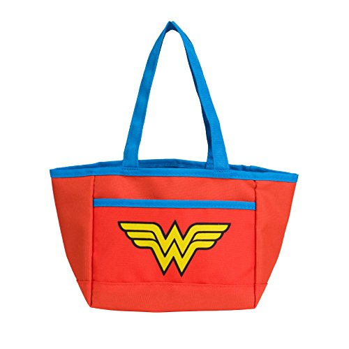 Wonder Woman Halloween Candy Trick or Treat Bag by DC Comics | Superhero Reusable Tote Bag with Handles for Candy Treats & Goodies -