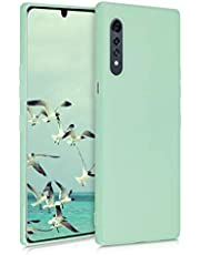 kwmobile TPU Silicone Case Compatible with LG Velvet - Soft Flexible Protective Phone Cover - Mint Matte