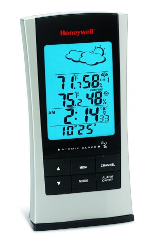 Honeywell TE529ELW Wireless Weather Forecaster with Humidity and Atomic Clock