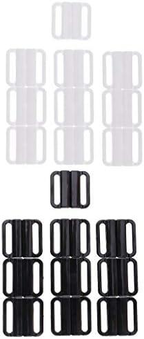 Hellery 20 sets met clips voor bikini haken van kunststof sluiting 25 mm