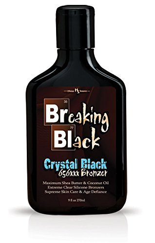 Hoss Sauce Tanning Bed (Breaking Black CRYSTAL BLACK 656xxx Tanning Bronzer 9oz)