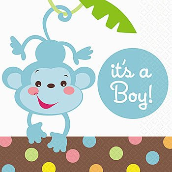 - It's a boy Baby Shower Beverage Napkins 16ct
