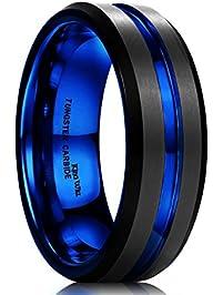 mens wedding rings - Black Mens Wedding Ring