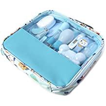 Cicitop 13 Pcs/Set Baby Care Kit Baby Grooming Kit Baby Healthcare Set Newborn Nursery Care Tools (Blue)