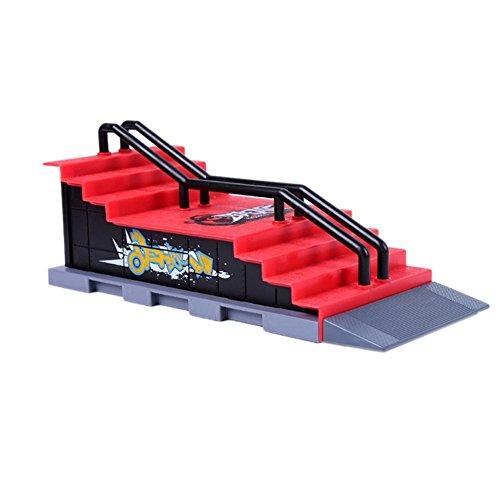 Jouet de Skate Park - SODIAL(R)Pieces de rampe de Skate Park pour rampe Tech Deck touche xontre6porte Ultime Parks (Style F)