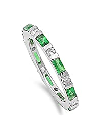 CHOOSE YOUR COLOR Sterling Silver Eternity Ring