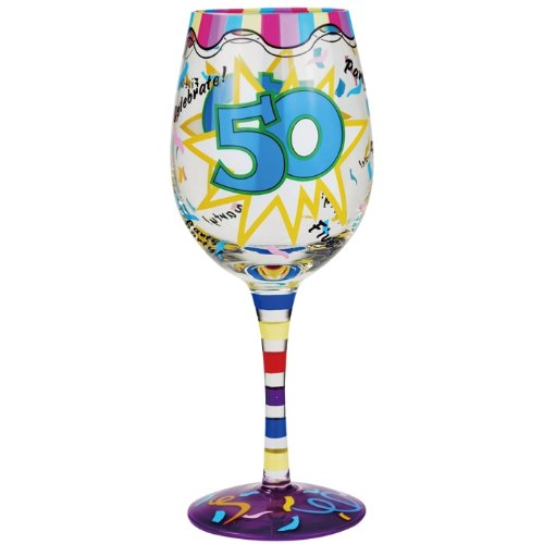 Westland Giftware 15-Ounce 50th Birthday Wine Glass, 9-Inch