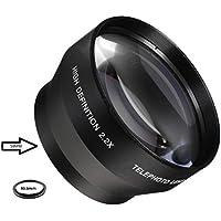Telephoto 2.2x Conversion Lens For Sony Alpha a6500, a6300, a6000, a5000, a5100 - NIkon 1 AW1, J1, J2, J3, J4, J5, S1, S2, V1, V2, V3 Mirrorless Digital Camera