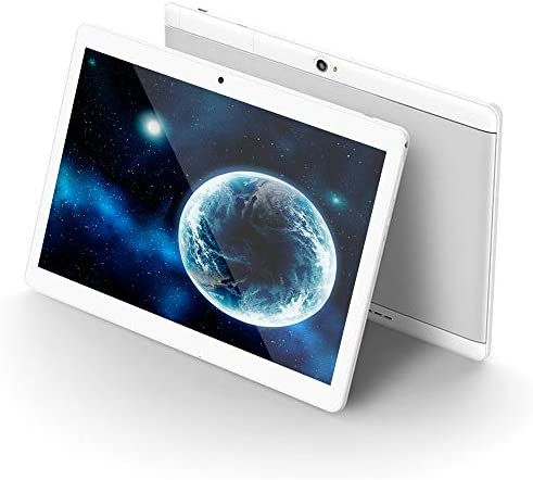Android Tablet 10 inch, Octa-Core Processor, 4GB RAM, 64GB ROM, 5G-WiFi,Bluetooth, GPS, HD Display,3G-Unlocked,G9 (Silver)