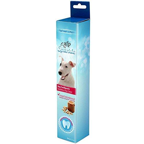 Afp sparkle dog toothpaste, peanut butter flavor