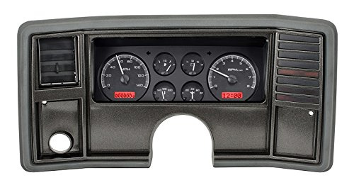 - Dakota Digital 78 -88 Chevy Monte Carlo Analog Dash Gauge System Black Alloy Red VHX-78C-MC-K-R