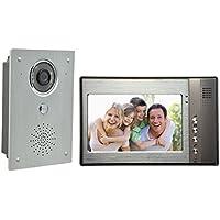 AMEXCOS 7 Video Intercom Door phone System, Video Doorbell kit, Wired Video DoorPhone, Night Vision Alloy Camera, Support Unlock, Monitoring, Dual-way Intercom Flush Mounted Outdoor Doorbell