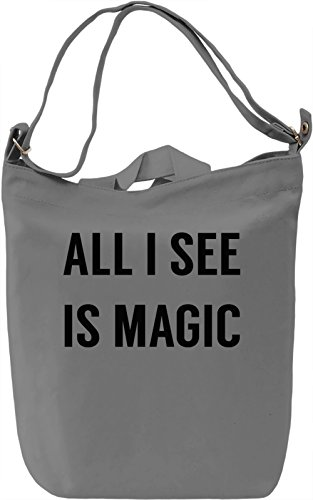 Everything is Magic Borsa Giornaliera Canvas Canvas Day Bag| 100% Premium Cotton Canvas| DTG Printing|