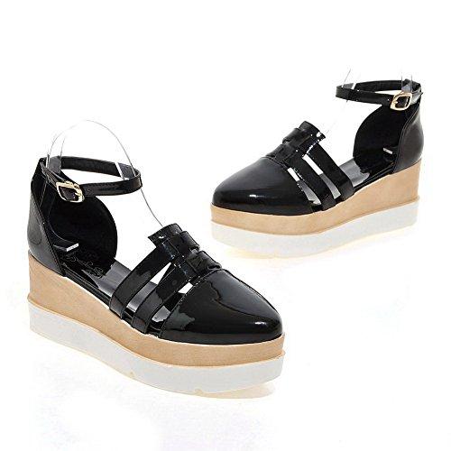 ASL05227 Solid Pumps BalaMasa Black Travel Womens Shoes Lining Cold Urethane naPnR8qwUA