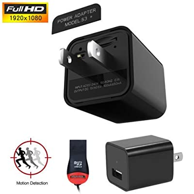 HD 1080P Hidden Camera USB Wall Charger AC Adapter Nanny Camcorder Motion Detect from YuFei