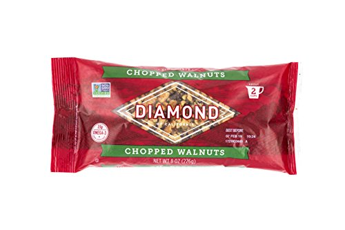 Nuts Chopped (Diamond of California Walnuts, Chopped, 8 oz. Bag)