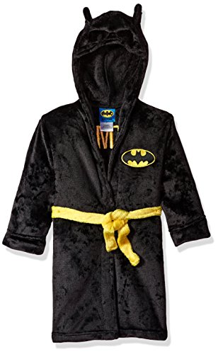 DC Comics Boys' Big' Hooded Robe, Black, 2T]()