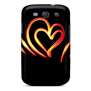 New BeautyEmotion Super Strong Brush Heart Tpu Case Cover For Galaxy S3