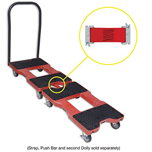 SNAP-LOC DOLLY RED (USA!) with 1,500 lb. capacity, steel frame, strap option, 4 inch casters by Snap-Loc (Image #8)