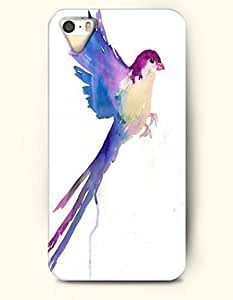 Phone Case For iPhone 5 5S Purple Flying Bird - Hard Back Plastic Case / Oil Painting / SevenArc Authentic