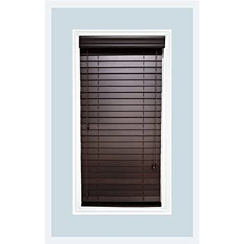 Amazoncom Custom Made Faux Wood Horizontal Window Blinds 2 Inch