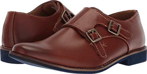 Deer Stags Boys' Harry Monk-Strap Loafer, Dark Luggage,