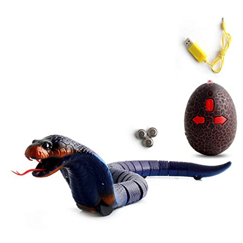 Evelove Remote Control Snake Rattlesnake Animal Tricky Terrifying Mischief Toy Remote- & App-Controlled Figures & -