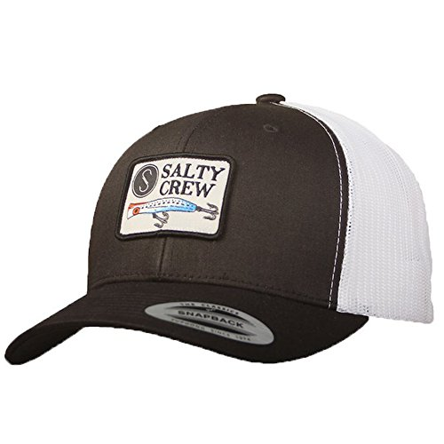 Salty Crew Popper Retro Trucker Hat Black/White OS ()