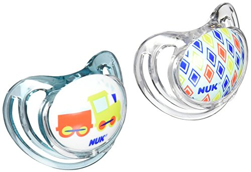 NUK Airflow Orthodontic Pacifier with Trains Design, 6-18 Months