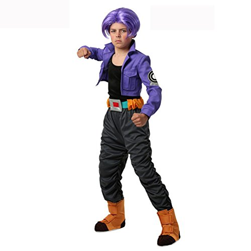 UU-Style Halloween Costume Party Outfit Child Suit Dragon Ball Z Trunks Outfit Wig Costume (Colonial Girl Costumes Virginia)
