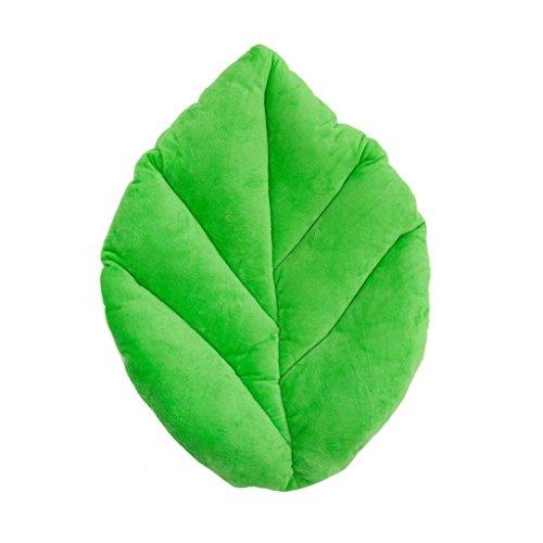 Floor Bloom Soft and Cozy Green Leaf Floor Pillow for Kids (Medium - Magic Garden Collection)