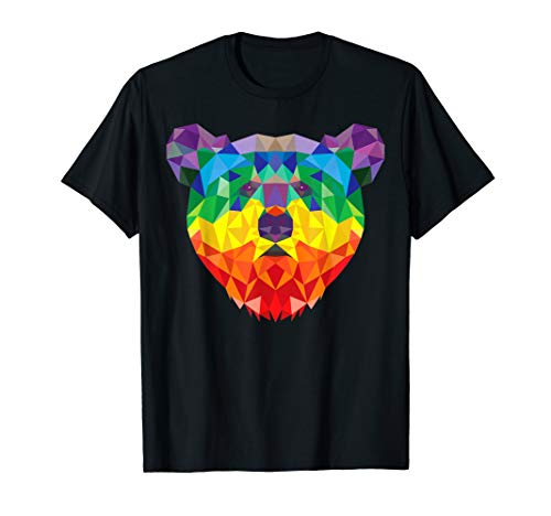 - Geometric Bear LGBT Rainbow Flag Gay PRIDE  T-Shirt